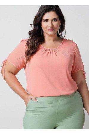Newumbi Mulher Blusas tipo Regata - Blusa Preguinhas Almaria Plus Size New Umbi com Re
