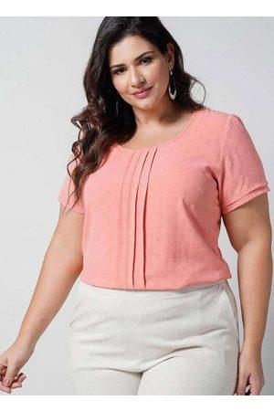 Newumbi Mulher Blusa - Blusa Texturizada Almaria Plus Size New Umbi Prega
