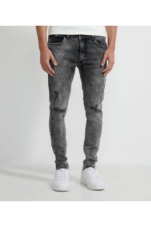 Blue Steel Calça Jeans Skinny com Rasgos | | | 36