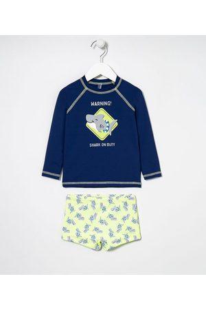 Cubus Criança Sets - Conjunto Infantil Praia com Proteção UV Estampa Tubarão - Tam 1 a 4 anos | | Multicores | 02