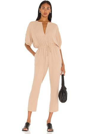 ATM Anthony Thomas Melillo Georgette Jumpsuit in Tan. - size L (also in M, S, XS)