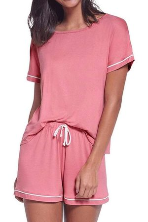 LUPO Pijama Feminino Curto 24243-002 5360-Goiaba
