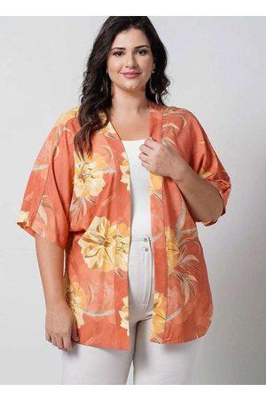 Newumbi Mulher Quimono - Kimono Curto Almaria Plus Size New Umbi Estampado