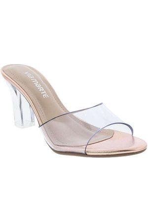 VIA MARTE Mulher Sapato Mule - Tamanco Salto Grosso Metalizada Vinil Ro