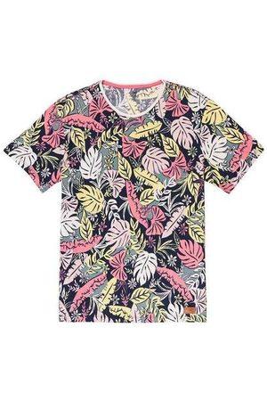 Hering Homem Camisolas de Manga Curta - Camiseta Masculina Slim Manga Curta Estampada