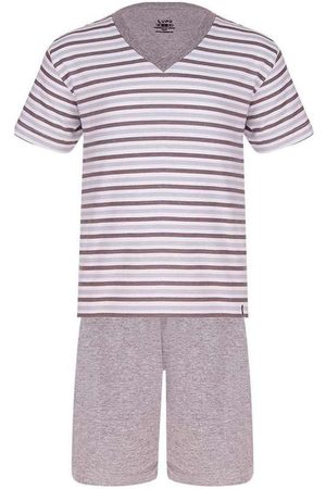 LUPO Pijama Masculino Curto 28021-001 8820-Chumbo