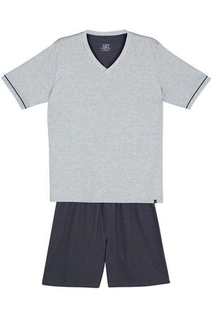 LUPO Pijama Masculino Curto 28000-001 8830-Chumbo