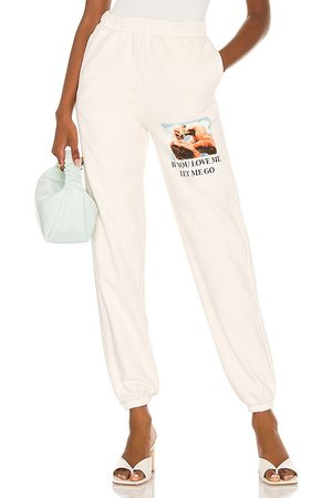 Boys Lie Sweatpants in White. - size L (also in M, S)