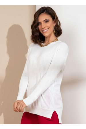 Quintess Mulher Cardigã - Casaco em Tricô Off White