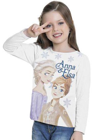Frozen Blusa Manga Longa Branca