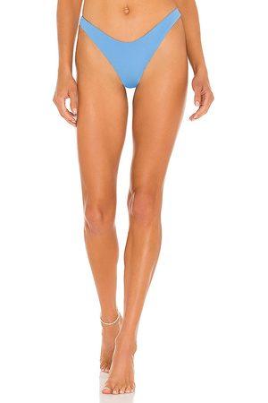 L*Space Cabana Bikini Bottom in Blue. - size L (also in M, S, XS)