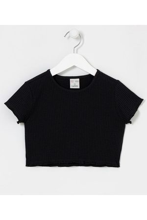 Fuzarka Criança Camiseta - Blusa Cropped Infantil Canelada - Tam 5 a 14 anos | | | 9-10