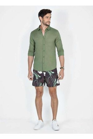 Dimy Homem Camisa Casual - Camisa Manga Longa Lisa