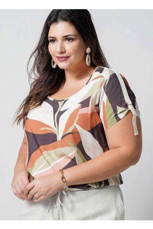 Newumbi Blusa Estampada Almaria Plus Size New Umbi Gorgurã