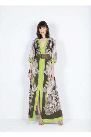 Dimy Vestido Longo com Fenda Frontal