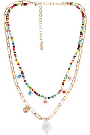 8 Other Reasons Miss.Thang Necklace in Metallic Gold.