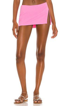 Frankies Bikinis Marty Terry Bikini Bottom in Pink. - size L (also in M, S, XS)