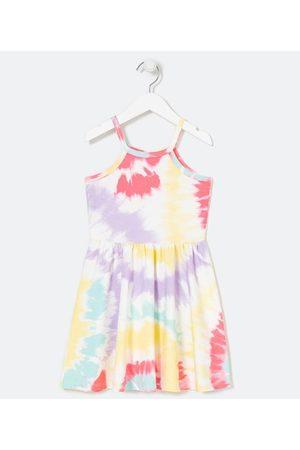 Fuzarka Criança Vestido Estampado - Vestido Infantil Estampa Tie Dye - Tam 5 a 14 Anos     Multicores   5-6