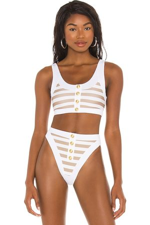 Beach Riot X REVOLVE Isle Bikini Top in Taupe. - size L (also in M, S, XS)