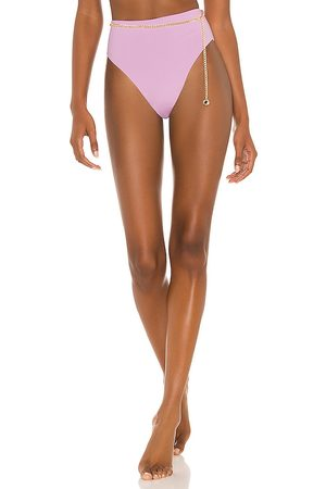 WeWoreWhat Belted Emily Bikini Bottom in Lavender. - size L (also in M, S, XS)