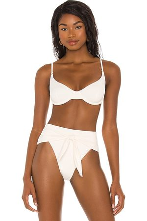 WeWoreWhat Vintage Bra Bikini Top in Ivory. - size L (also in M, S, XS)