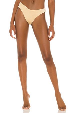 WeWoreWhat Delilah Bikini Bottom in Yellow. - size L (also in M, S, XS)