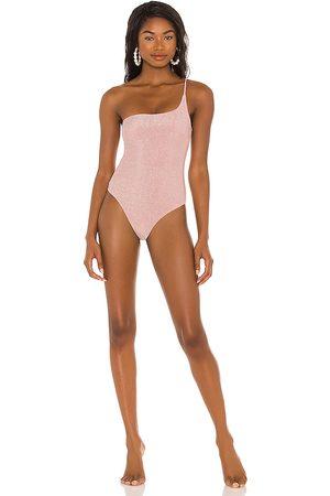 Nookie X REVOLVE One Shoulder One Piece Bikini in Blush. - size L (also in M, S, XS)