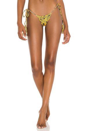 Indah Collins Skimpy Side Tie Bikini Bottom in Yellow. - size L (also in M, S, XS)