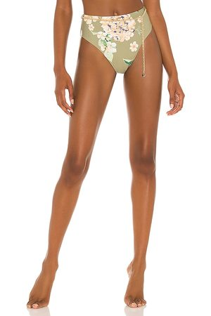 WeWoreWhat Belted Emily Bikini Bottom in Sage. - size L (also in M, S, XS)