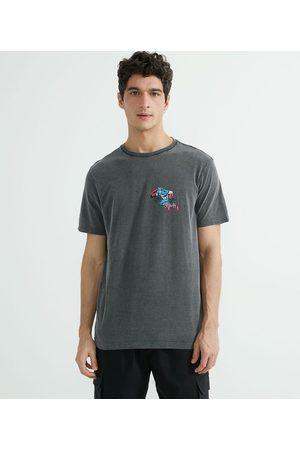 Capitão America Camiseta Manga Curta Meia Malha Estampa Localizada Capitão América       P