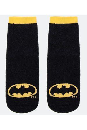 Batman Meia Infantil com Solado Estampa - Tam 19 ao 26       19/22