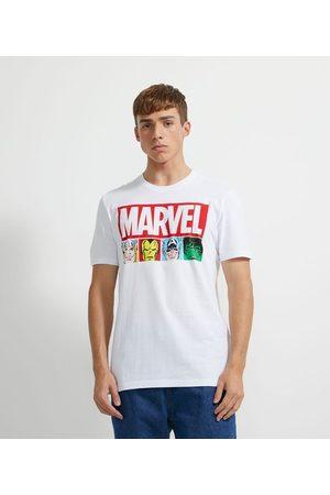 Marvel Camiseta Manga Curta em Algodão Estampa       PP