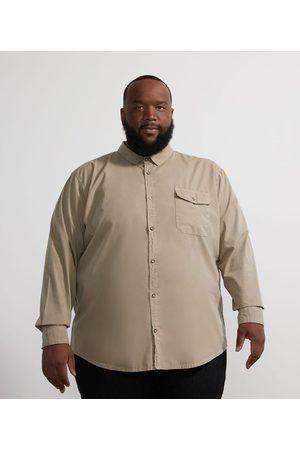 Marfinno Camisa Manga Longa em Tricoline com Bolso - Plus Size | | | EG III