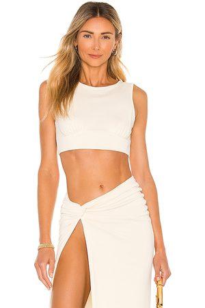 Camila Coelho Fellie Crop Top in Cream. - size L (also in XL)