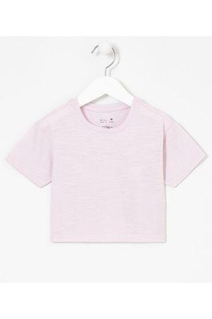 Póim (1 a 5 anos) Blusa Infantil Semi Cropped com Bordado de Coração - Tam 1 a 5 anos       05