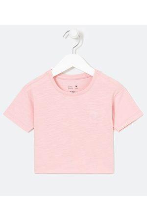 Póim (1 a 5 anos) Blusa Infantil Semi Cropped com Bordado de Coração - Tam 1 a 5 anos       01