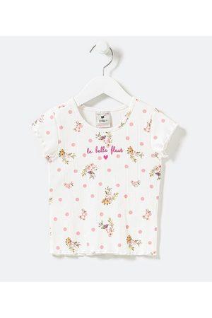Póim (1 a 5 anos) Blusa Infantil Canelada Estampa Poá e Floral - Tam 1 a 5 anos       03
