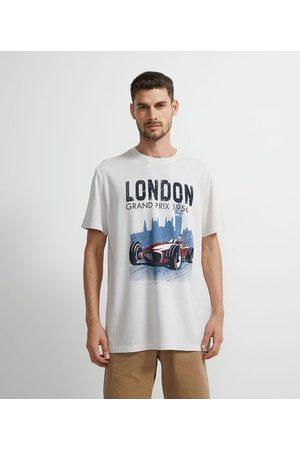 Marfinno Camiseta Manga Curta com Estampa Localizada London Granprix       P