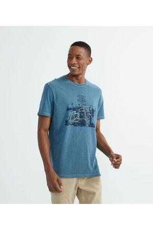 Marfinno Camiseta Manga Curta com Estampa Motocicleta       M