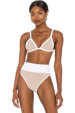 Beach Riot Pamela Bikini Top in Taupe. - size S (also in L, M, XS)