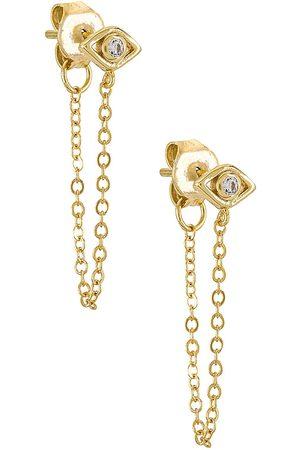 Shashi Mulher Pulseiras - Violet Chain Earrings in Metallic .