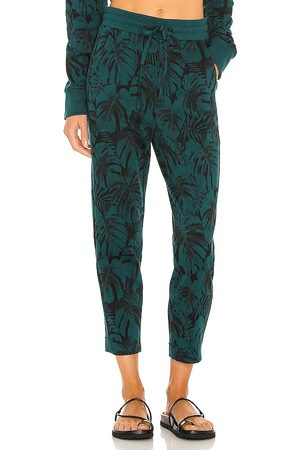 TWENTY Montreal Monstera Hyper Reality Knit Sweatpant in Green. - size L (also in M, S, XS)