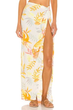L*Space Mia Cover Up in White,Yellow. - size L (also in M, S, XS)