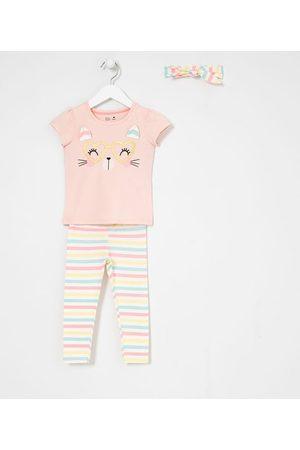 Póim (1 a 5 anos) Conjunto Infantil de Blusa Cara de Bichinho e Legging Listrada - Tam 1 a 5 anos | | | 05