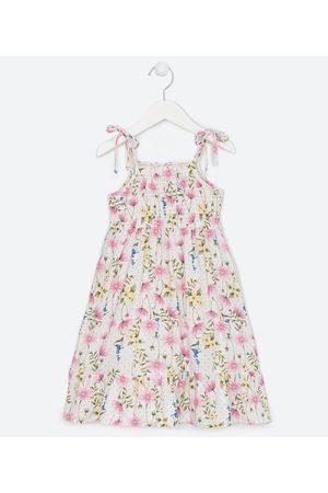 Fuzarka (5 a 14 anos) Vestido Infantil Alças em Viscose Estampa Floral - Tam 5 a 14 anos | | | 11-12