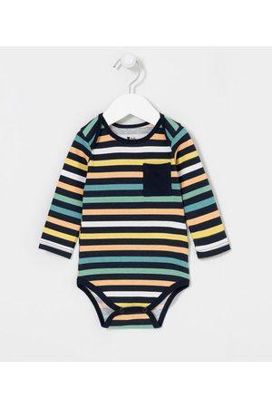 Teddy Boom (0 a 18 meses) Body Infantil Listrado - Tam 0 a 18 meses       12-18M