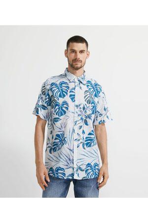 Marfinno Camisa Manga Curta em Voal com Estampa de Folhagem | | | G