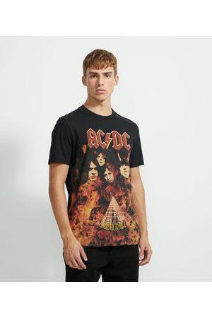 AC/DC Homem Camisolas de Manga Curta - Camiseta com Estampa       GG