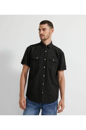 Marfinno Homem Camisa Manga Curta - Camisa Manga Curta em Oxford | | | P