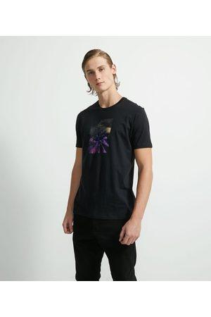 Request Homem Camisolas de Manga Curta - Camiseta Manga Curta em Algodão Estampa Infinity       G